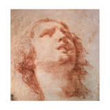 Head Study of a Woman Looking Up, 17th Century Giclee Print by Pietro da Cortona