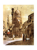 The Blue Mosque, Cairo, Egypt, 1928 Giclee Print by Louis Cabanes