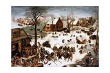 The Numbering at Bethlehem, 1566 Giclee Print by Pieter Bruegel the Elder