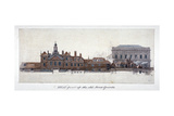 East Front of Horse Guards, Westminster, London, C1749 Giclee Print by Paul Sandby