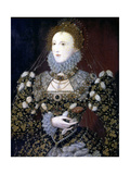 Elizabeth I, Queen of England and Ireland, 1575 Giclee Print by Nicholas Hilliard