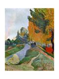 Landscape in Arles Near the Alyscamps, 1888 Stampa giclée di Paul Gauguin
