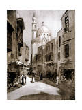 Old Street in Sunlight, Cairo, Egypt, 1928 Giclee Print by Louis Cabanes