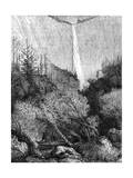 Waterfall, Yosemite National Park, California, 19th Century Giclee Print by Paul Huet