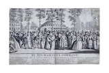 Jubilee Venetian Masquerade Ball in Ranelagh Gardens, Chelsea, London, 1749 Giclee Print by Nathaniel Parr
