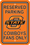 NCAA Oklahoma State Cowboys Parking Sign Wall Sign