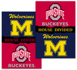 NCAA Michigan - Ohio St. 2-Sided House Divided Rivalry Banner Flag
