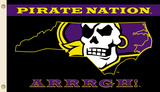 NCAA East Carolina Pirates Flag with Grommets Flag