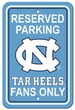 NCAA North Carolina Tar Heels Parking Sign Wall Sign