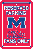 NCAA Mississippi Rebels Parking Sign Wall Sign