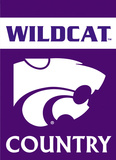 NCAA Kansas State Wildcats 2-Sided Country Garden Flag Flag