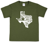 Youth: Everything Is Bigger In Texas T-shirts