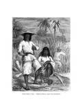 Chinese Workers, Cuba, 19th Century Giclee Print by  Pelcoq