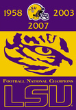 NCAA LSU Tigers Championship Years 2-Sided Banner Flag