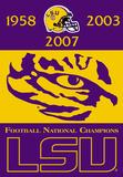 NCAA LSU Tigers Championship Years 2-Sided Banner Bandera