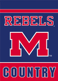 NCAA Mississippi Rebels 2-Sided Country Garden Flag Flag
