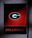 NCAA Georgia Bulldogs Light Show Garden Flag Flag