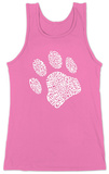 Womens: Dog Paw Tank Top Trägerhemd