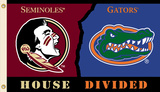 NCAA Florida - Florida St. Rivarly House Divided Flag with Grommets Flag