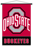 NCAA Ohio State Buckeyes Indoor Banner Scroll Flag