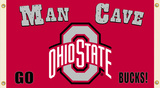 NCAA Ohio State Buckeyes Man Cave Flag with Four Grommets Flag