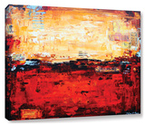 Abstract Warm Gallery-Wrapped Canvas Stretched Canvas Print