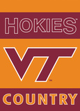 NCAA Virginia Tech Hokies 2-Sided Country Garden Flag Flag