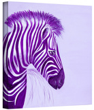 zebras purple Gallery-Wrapped Canvas Stretched Canvas Print