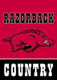 NCAA Arkansas Razorbacks 2-Sided Country Garden Flag Flag