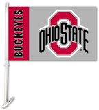 NCAA Ohio State Buckeyes Car Flag with Wall Bracket Flag