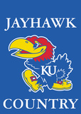 NCAA Kansas Jayhawks 2-Sided Country Garden Flag Flag