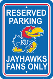 NCAA Kansas Jayhawks Parking Sign Wall Sign