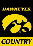 NCAA Iowa Hawkeyes 2-Sided Country Garden Flag Flag