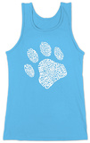 Womens: Dog Paw Tank Top Womens Tank Tops