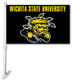NCAA Wichita State Car Flag with Wall Bracket Flag