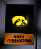NCAA Iowa Hawkeyes Light Show Garden Flag Flag
