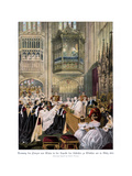 Princess Alexandra's and Prince Edward's Wedding, St Georges Chapel at Windsor Giclee Print by Robert Dudley