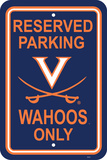 NCAA Virginia Cavaliers Parking Sign Wall Sign