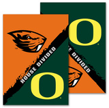NCAA Oregon - Oregon State 2-Sided House Divided Rivalry Garden Flag Flag