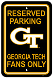 NCAA Georgia Tech Yellow Jackets Parking Sign Wall Sign