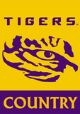 NCAA LSU Tigers 2-Sided Country Garden Flag Flag