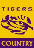NCAA LSU Tigers 2-Sided Country Garden Flag Bandera