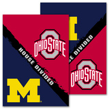 NCAA Michigan - Ohio St. 2-Sided House Divided Rivalry Garden Flag Flag