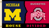 NCAA Michigan - Ohio St. Rivarly House Divided Flag with Grommets Bandera