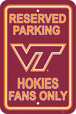 NCAA Virginia Tech Hokies Parking Sign Wall Sign