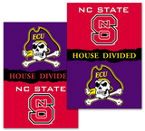 NCAA NC State - E. Carolina 2-Sided House Divided Rivalry Banner Flag