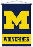 NCAA Michigan Wolverines Indoor Banner Scroll Flag