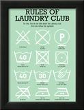 Laundry Club Green Art by Patricia Pino