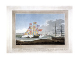 West India Docks, Poplar, London, 1802 Giclee Print by Peltro William Tomkins
