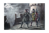Hamlet Seeing His Father's Ghost on the Battlements of Elsinore Castle Giclee Print by Robert Dudley